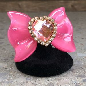 Jewelry - Pink Bow Ring - Adjustable